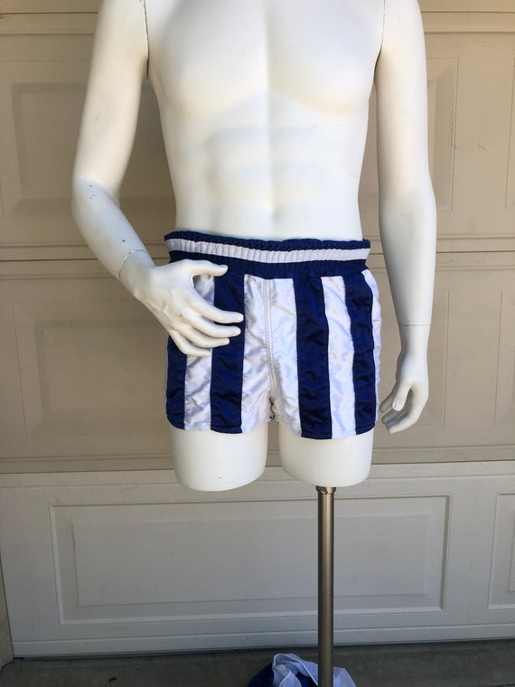 Vintage 60s 70s Athletic Shorts Striped Sports Sho