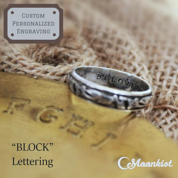 Custom Personalized Inside Ring Engraving For Engagement Etsy