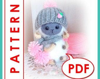 Bu the Sheep - Crochet toy Amigurumi pattern PDF