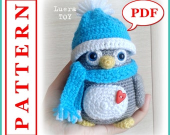 Mr. Penguin - Crochet toy Amigurumi pattern PDF