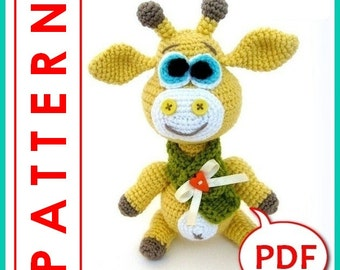 George the Giraffe - Crochet toy Amigurumi pattern PDF