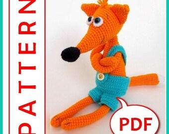 Baby Fox - Crochet toy Amigurumi pattern PDF
