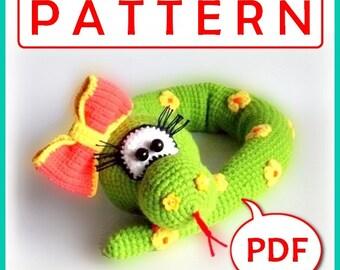 Henriette the Snake - Crochet toy Amigurumi pattern PDF