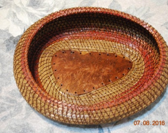 """Pine Needle Basket """"Redwood Burl"""""""