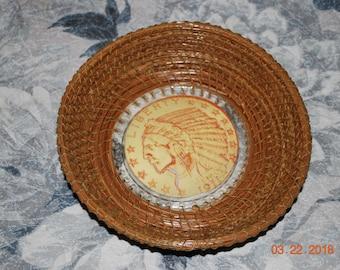 """Pine Needle Basket """"Indian Head"""""""