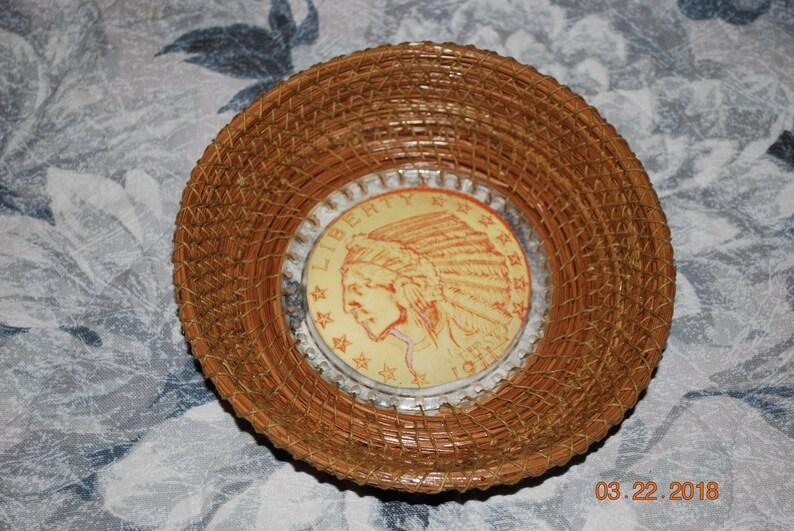 Pine Needle Basket Indian Head