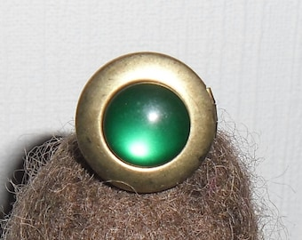 Open ring 16 mm to 12mm cabochon
