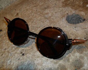 Brown steampunk goggles customized