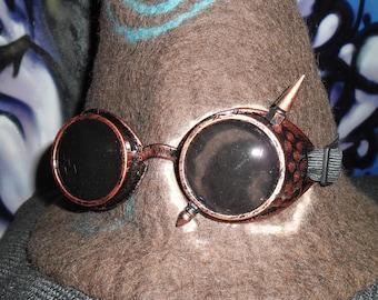 customized copper steampunk goggles