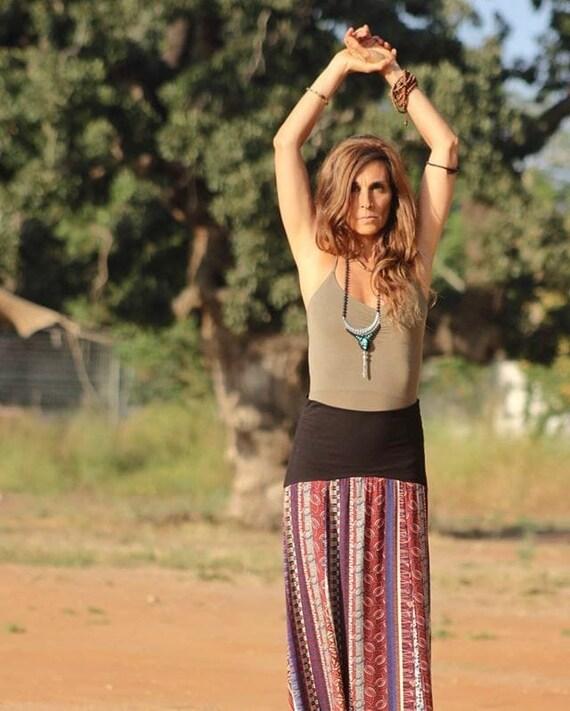 Pixie Top Festival Clothing Goa Hippie Top Boho Style Hummingbird  Asymmetric Top Organic cotton Mandala Top Yoga Top