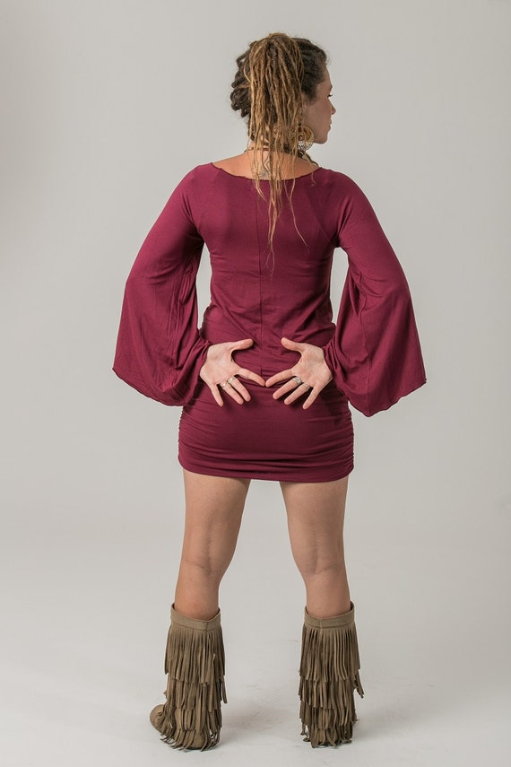 Dress Red Pixie Clothing Gypsy Red Clothing Dress Pixie Gypsy Maroon Gypsy Dress Pixie Zqaz1