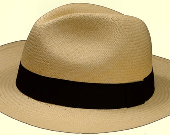 Fair Trade Grade 12 Montecristi Superfino Ecuadorian Rolling Panama Hat 3Xl  Fedora Toquilla Straw a0630fa33e38