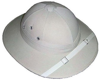 4d734bd1 Classic Safari Hat / Pith Helmet - Solid Replica Of Colonial Headgear