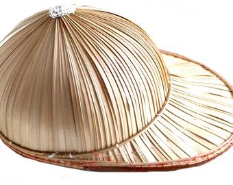 cd4a8acb177 Genuine Fair Trade Vietnam Vietnamese Non La Bamboo Baseball Style Cap Hat
