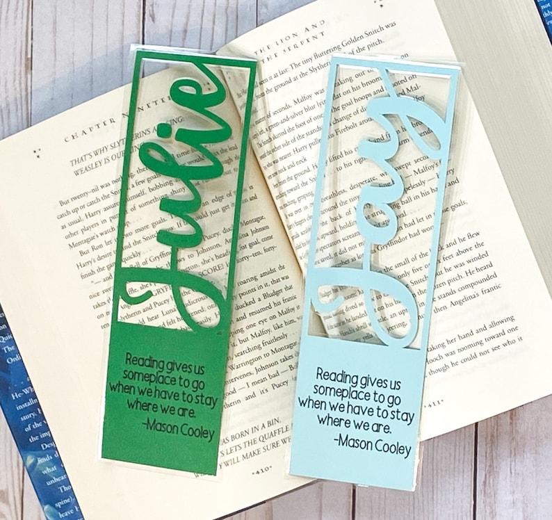 Personalized Bookmark Custom Bookmark Teacher Gift image 0