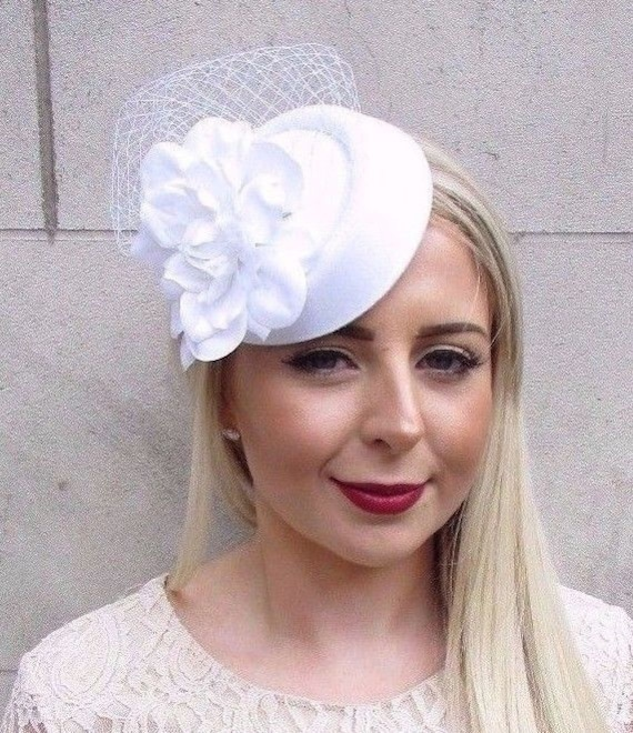 Red Rose Gold Sequin Pillbox Hat Hair Fascinator Races Wedding Headpiece 6757