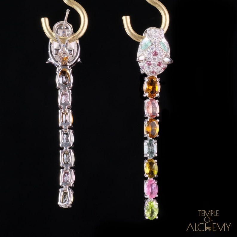 Garnet Free DHL Express Shipping *80716ger1 Emerald Tiger Earrings *Tourmaline