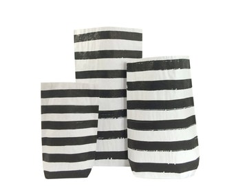 Striped  Paper Bag