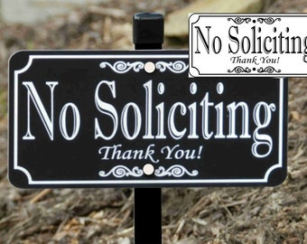 NO SOLICITING Lawn Sign, Yard Sign
