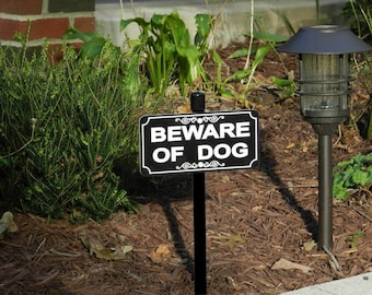 BEWARE OF DOG Lawn Sign, Beware of Dog Yard Sign, Beware of Dog Sign