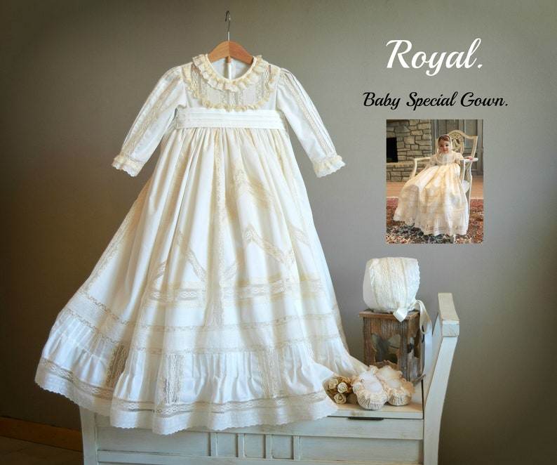20002e6105ee ROYAL Luxury Baby Unisex Gown. Create your OWN outfit. Real