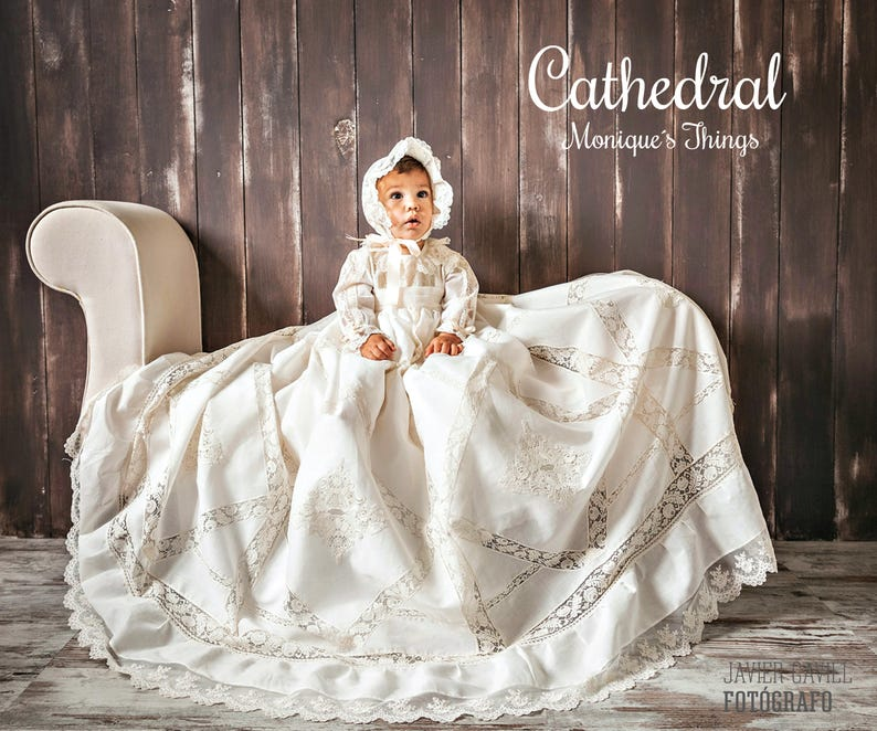 0ffc38596 CATHEDRAL Luxury Baby Unisex Gown. Create your OWN outfit.