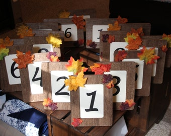 Fall Foliage 18 Table Numbers