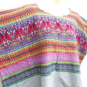 Authentic Handmade Mayan Guatemalan Embroidered Huipil from Coban Guatemala tribal blouse