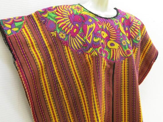 Handmade Mayan Guatemalan Embroidered Huipil from Almolonga