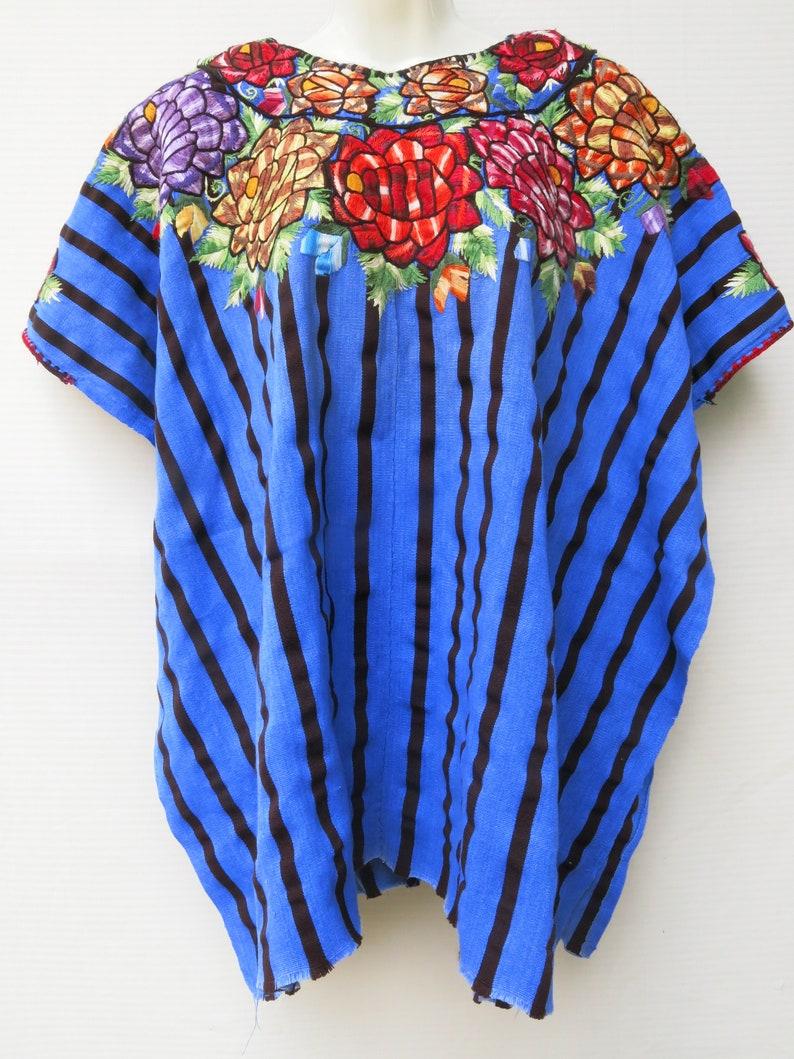 Authentic Handmade Mayan Guatemalan Embroidered Huipil from Santiago Atitlan Guatemala