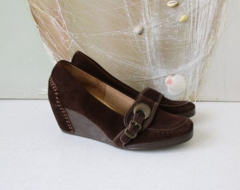 f36c78ce9f Vintage Clarks Brown Suede Leather Women's Shoes Womens 5.5/38.5/8