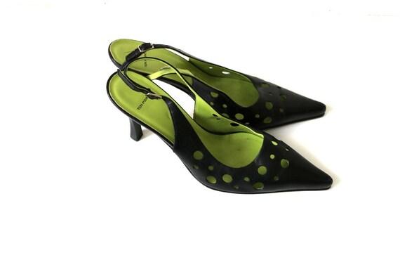 haut talon noir cuir en d Chaussures classique vintage ZnPqFWAF7S