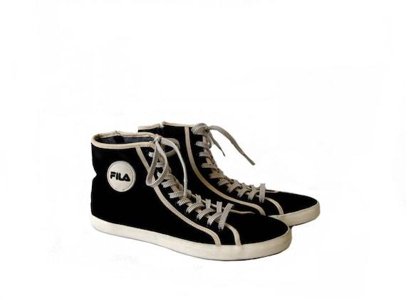 toile Vintage blanc FILA noir Sneakers 40 Unisex noir taille baskets 61ccTq
