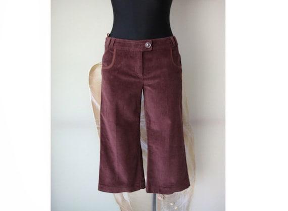 Max&Co Corduroy Capri Pants Vintage Women's Brown