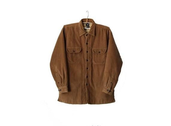 Vintage Camel Corduroy Outerwear Men's Jacket with