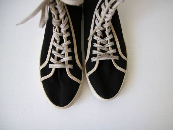 Unisex 40 toile taille Vintage Sneakers noir FILA baskets blanc noir CxYqzXSw