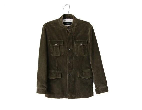 Vintage Zegna Sport Men's Khaki Jacket Corduroy Co