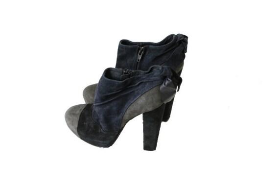 Bleu Plate Gothique 6 Daim 8 39 Forme Gris Boots 5 Noir Chaussons 5q6xO