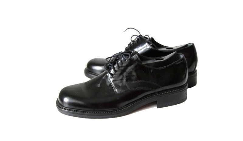 vintage Swiss Fretz men Derby Leather mens size EUR 40,5 UK 7 Norweger Men Shoe Black Shoes Norweger