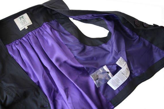 Womens Gray Purple Vest Cotton Formal Waistcoat M… - image 6