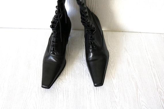 974290b93cad7 Bronx Black Leather Ankle Boots Lacing Shoes Urban Shoes EUR 37 / UK 4 / US  6.5