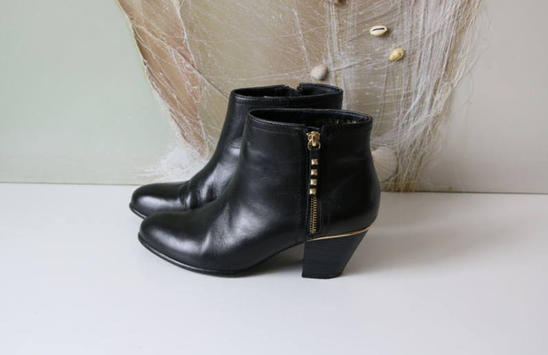 a781f8fb8d877 Women's Ankle Boots Black Hipster Ankle Boots 40/6,5/9