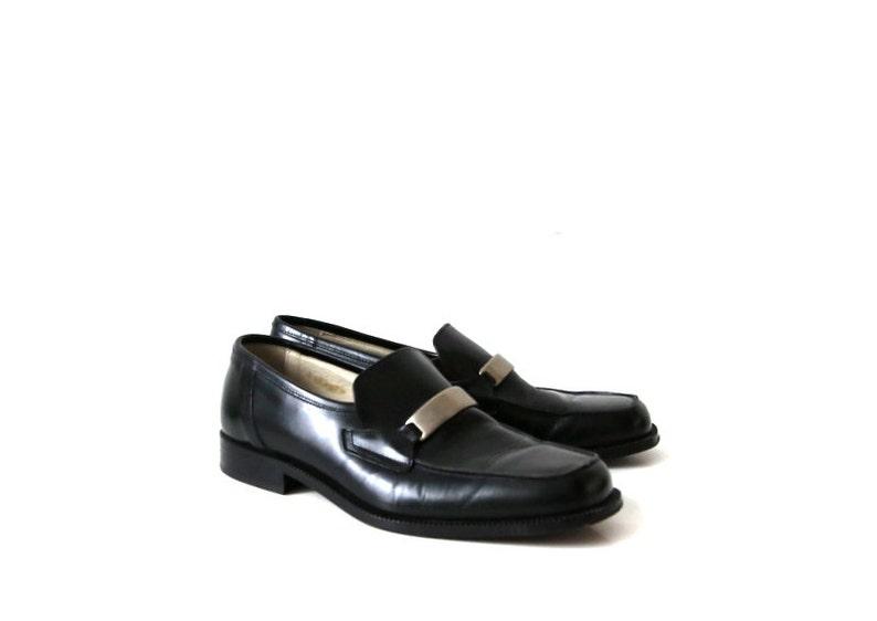 Mac Dugan nero pelle scarpe Oxford EUR 41.5 UK 7.5 US 8
