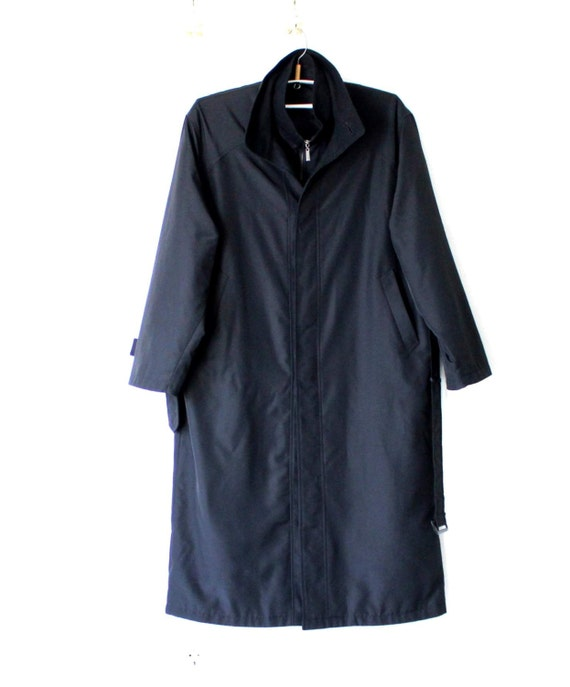Manteau Trench noir de Hugo Boss homme avec doublure amovible   Etsy 4524ba0d80ba