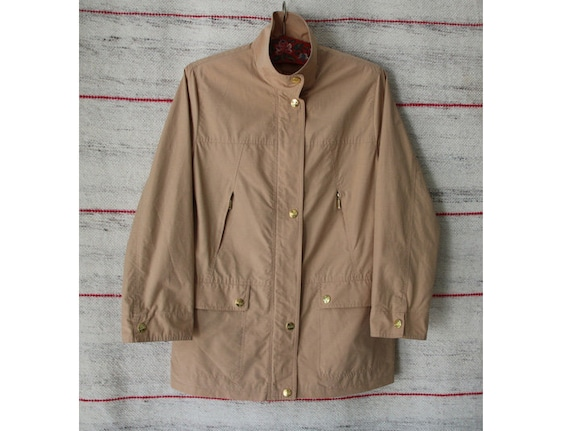 Vintage Women's Light Brown Rainwear Jacket  Casua