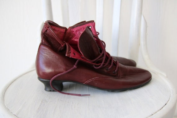 Soft Burgundy GUDRUN Vintage 9 6 Ankle Boots 5 40 SJODEN Leather tqwawZnRO