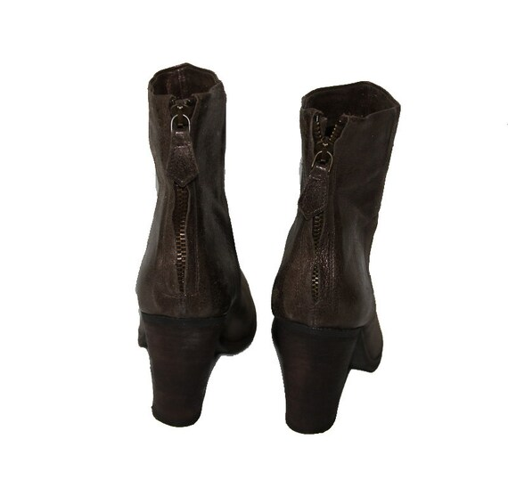 Boots Ankle EUR 5 6 37 Women's with Glitter Leather UK Brown US 4 wUHZqSXW4a