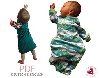 pdf - baby gowns sewing pattern Gr. 50-140 (newborn - 9 years)