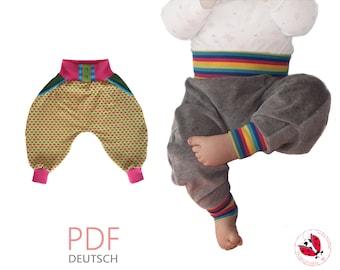 "pdf - Baby pants ""Pomp!"" Gr. 50-98 (Sizes newborn-3T) projector file"