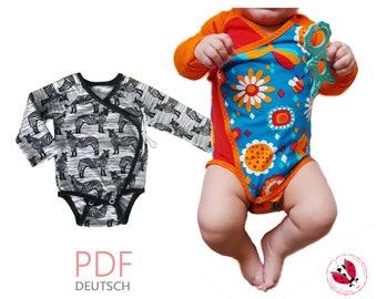 pdf - kimono bodysuit sewing pattern Gr. 44-74 (Sizes Preemie - 9 months)